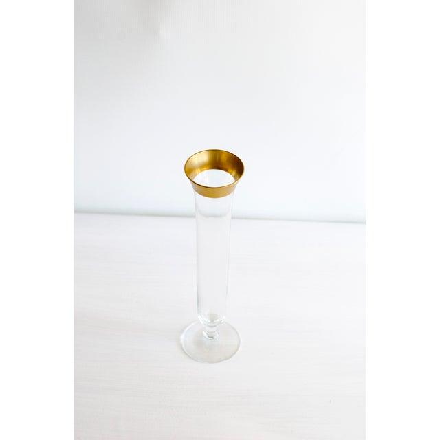 Vintage Gold Rimmed Narrow Vase - Image 2 of 5