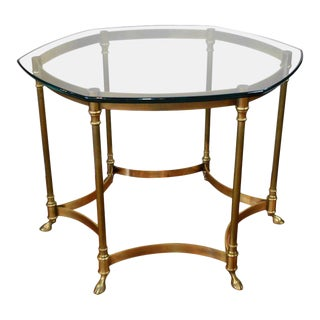 Mid-Century Brass Cocktail Table