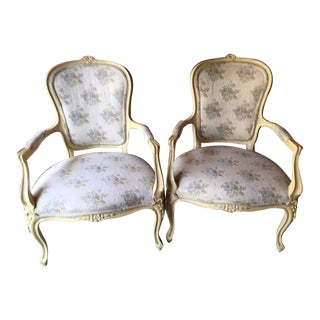 Hickory Chair Louis XV Provincial Occasional Chairs - a Pair For Sale