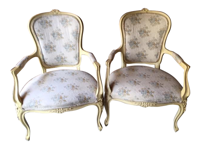 Hickory Chair Louis XV Provincial Occasional Chairs   A Pair For Sale