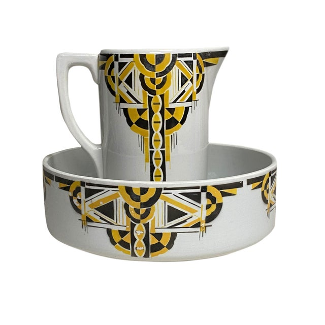Art Deco Pitcher and Bowl - a Set For Sale - Image 12 of 12