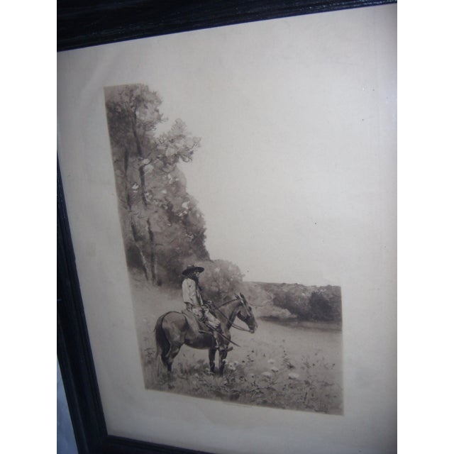 19th-C. Engraving of Man on Horse For Sale - Image 5 of 6