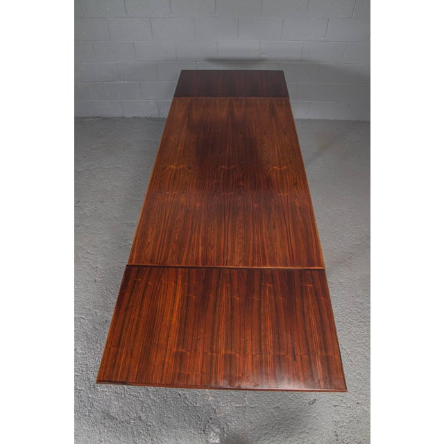 Danish Modern Rosewood Extension Dining Table For Sale In Boston - Image 6 of 11