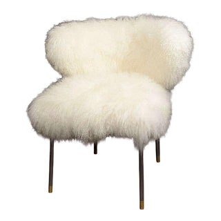 Custom Mongolian Lamb Chair For Sale