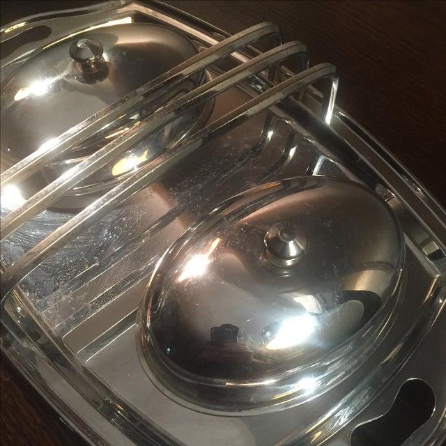 Vintage Stainless Steel Breakfast Tray - Image 3 of 5