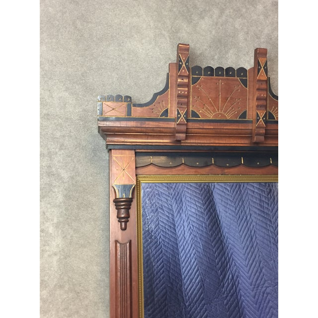 Early American Antique Eastlake Heavy Carved Wall Mirror For Sale - Image 3 of 11