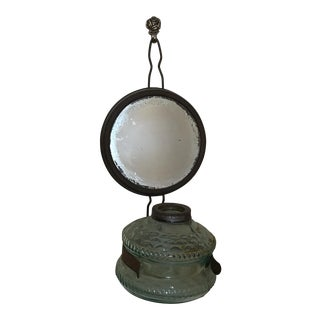 Vintage Hanging Oil Lamp With a Mirror