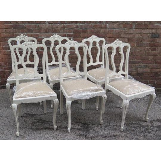 Set of Six Vintage French Chairs For Sale In Boston - Image 6 of 8