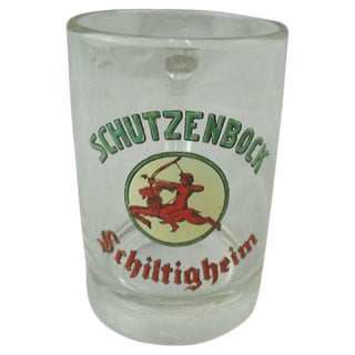 Schutzenbock Enameled Beer Mug For Sale