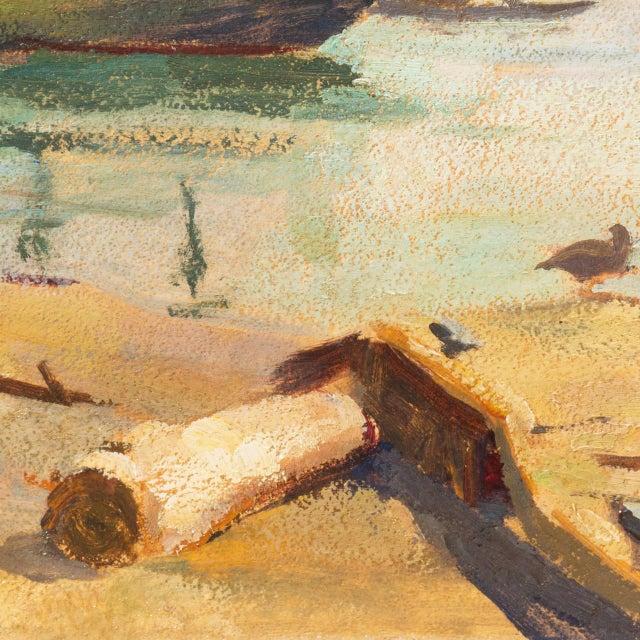'Harbor Mist' by Jonathan Scott Circa 1960, Laguna Beach Art Association, Aws, Pasadena Art Museum For Sale In Monterey, CA - Image 6 of 11
