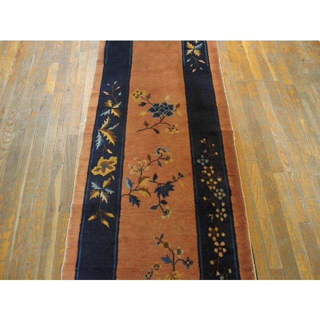 """Art Deco Antique Chinese Art Deco Rug 2'6"""" X11'9"""" For Sale - Image 3 of 5"""