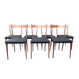 1970s S2 Cherry Wood Dining Chair by Alfred Hendrickx for Belform- Set of 7 For Sale