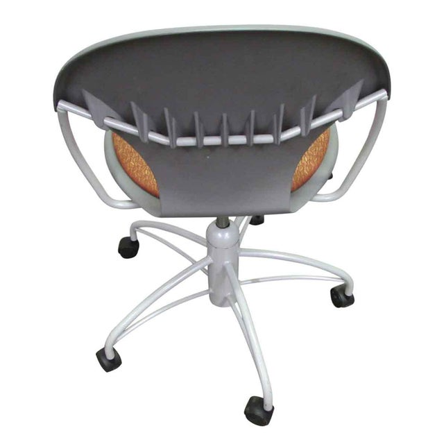 Modern Rolling Office Chair For Sale - Image 5 of 9