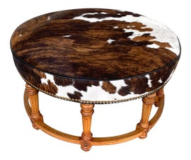 Image of Cowhide Ottomans