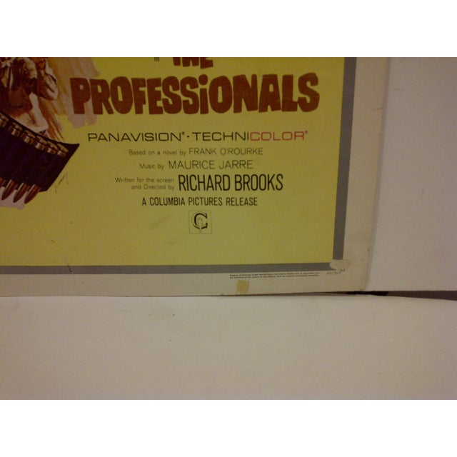 "Vintage ""The Professionals"" 1966 Movie Poster For Sale - Image 4 of 5"
