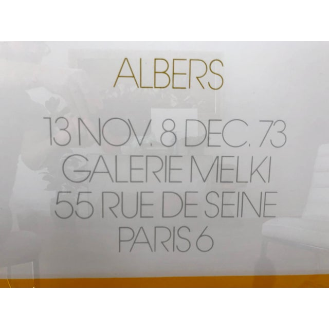 Abstract 1973 Josef Albers Framed Homage to the Square Poster For Sale - Image 3 of 10
