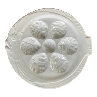 French Faience Oyster Plates of Koi Fish Form, Set of 10 For Sale
