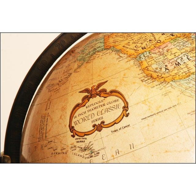 Mid-Century Modern Replogle World Globe W Brass Stand - Image 10 of 11