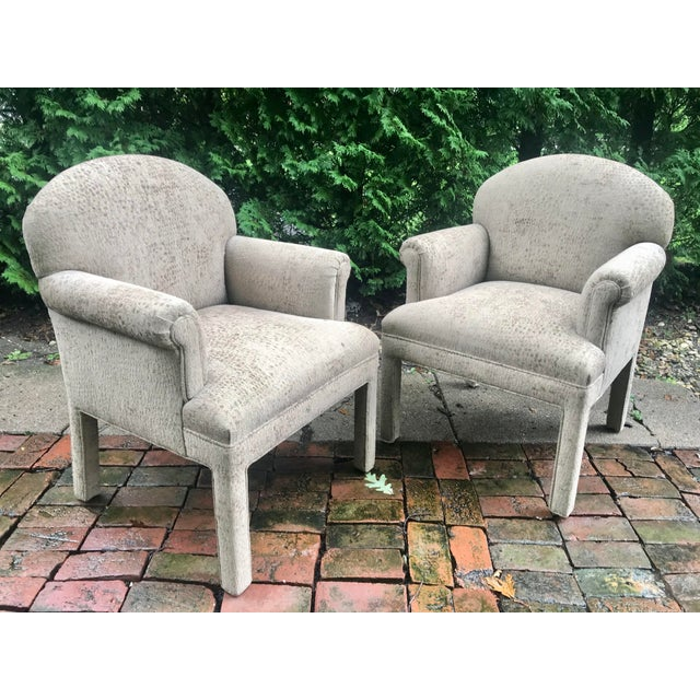 Beige Contemporary Kravet Chairs - a Pair For Sale - Image 8 of 10