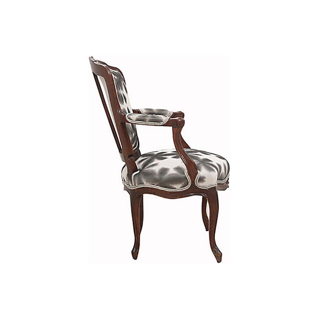French Scalamandre & Kravet Upholstered Louis XV Style Fauteuils, a Pair For Sale - Image 3 of 8