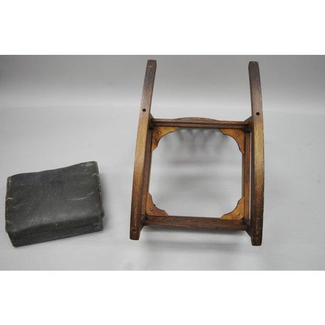 L. & J.G. Stickley, Inc. Mission Oak Youth Nursing Rocking Chair For Sale - Image 10 of 11