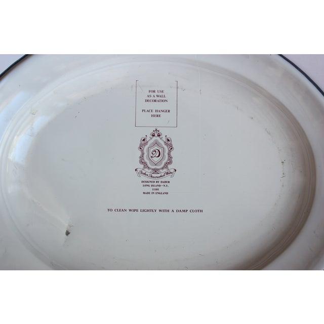 Blue & White English Tin Plate - Image 4 of 4
