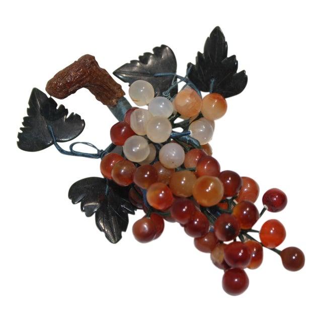 Vintage Apricot/Amber Quartz Mini Grape Cluster For Sale