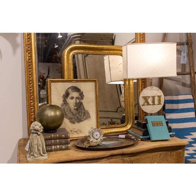 Antique French Gilt Louis Philippe Mirror, Late 19th Century For Sale - Image 11 of 13