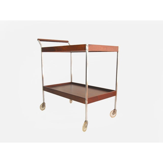 Salton Mid-Century Hot Plate Serving Cart For Sale - Image 4 of 6