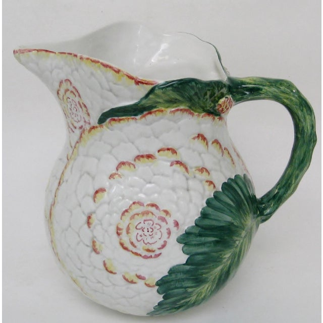1980s Italian Majolica Pitcher For Sale - Image 5 of 10