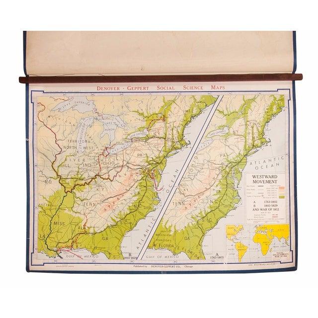 Vintage Denoyer-Geppert Westward Movement Map For Sale