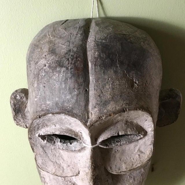 Vintage Tribal Hand Carved African Mask For Sale - Image 9 of 9