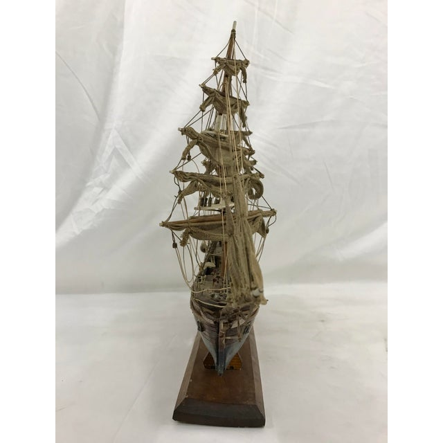 "Spanish Spanish Hand Crafted Model of the Schooner ""Eagle"" For Sale - Image 3 of 7"