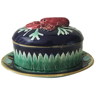 19th Century Victorian Joseph Holdcroft Majolica Lobster Tureen For Sale
