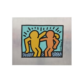 "1980's Vintage ""Best Buddies"" Print by Keith Haring For Sale"