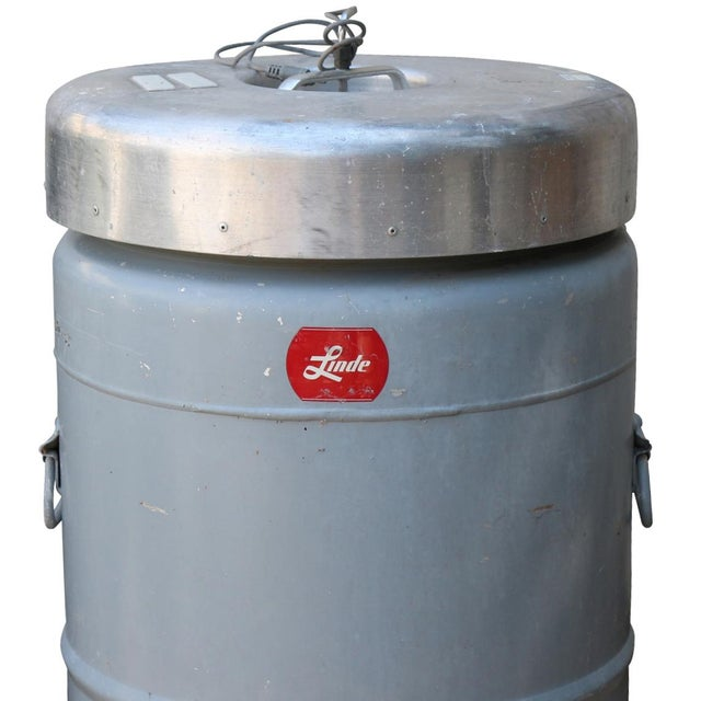 1980s Cryogenics Stainless Steel Nitrogen Cooler - Image 4 of 8