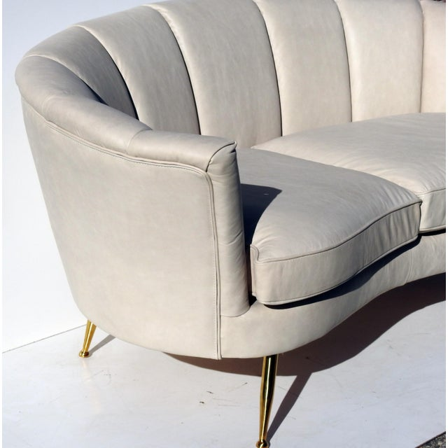 Modern Italian Leather Loveseat - Image 3 of 6