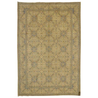 Vintage Persian Kashan Traditional Style Wool Rug - 8′5″ × 12′5″ For Sale