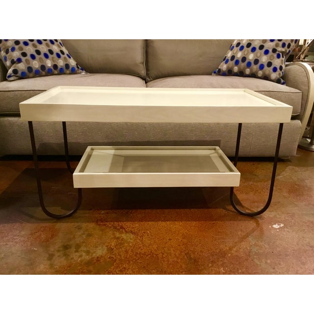 2010s Hickory Chair Jacques Coffee Table For Sale - Image 5 of 8