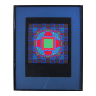 Victor Vasarely Signed and Numbered Mid-Century Modern Op Art Serigraph Print For Sale