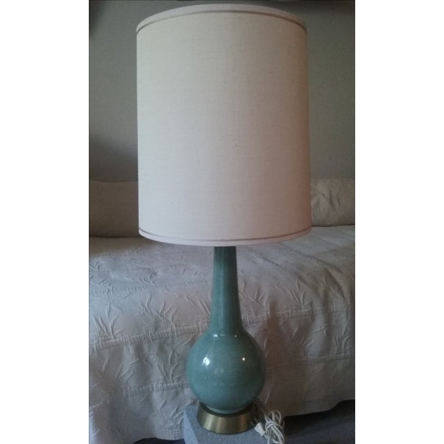 Mid-Century Ceramic Glazed Lamp with 3-Way Switch - Image 2 of 6