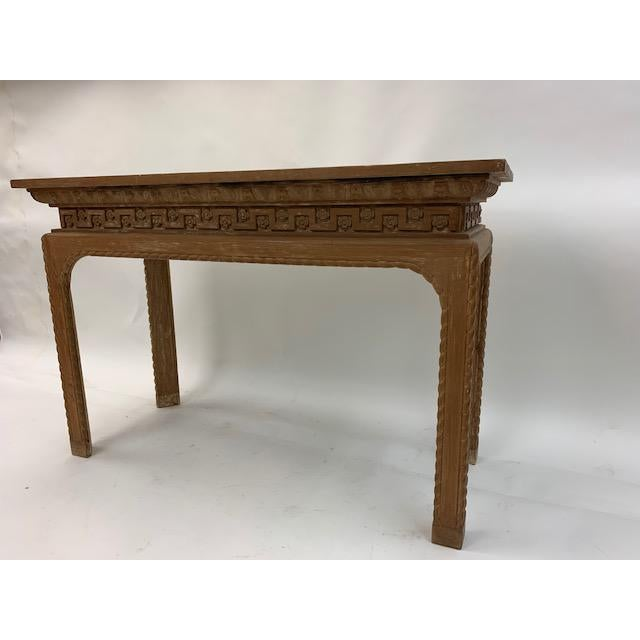 Vintage Italian Carved Console Tables - a Pair For Sale - Image 9 of 11