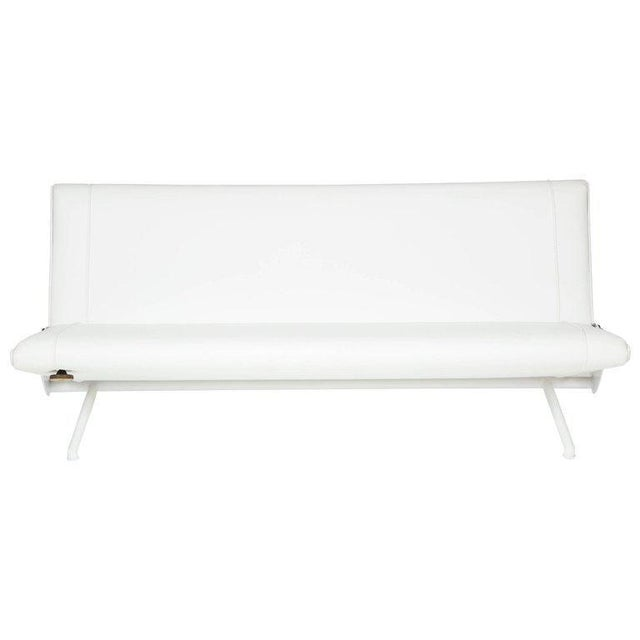 Early borsani d70 sofa restored like the example found on the borsani book cover, white on white. Fully adjustable, it...