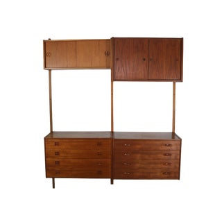 Mid Century Danish Teak Shelving Unit by Ps Systems