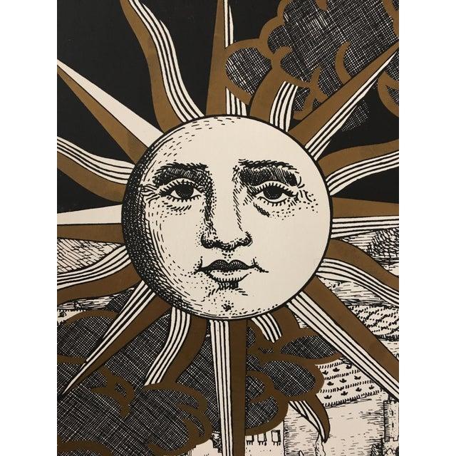 "Italian Piero Fornasetti ""Sole a Gerusalemme"" Silkscreen Print For Sale - Image 3 of 8"