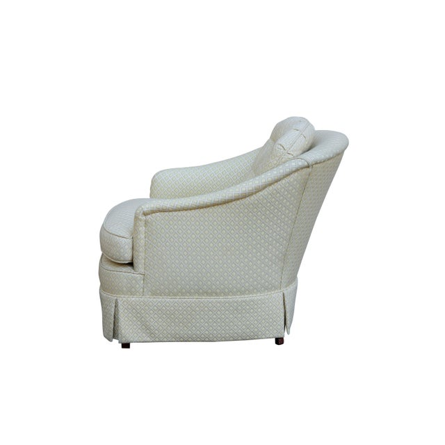 Mid Century Style Cream Club Chairs, A Pair - Image 3 of 9