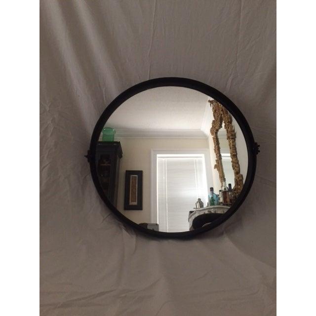 Round Pivot Iron Mirror - Image 2 of 6