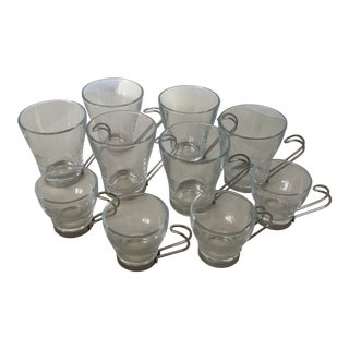 Italian Coffee Cups With Removable Handles - Set of 10 For Sale