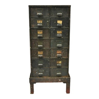 Antique Industrial Cabinet For Sale
