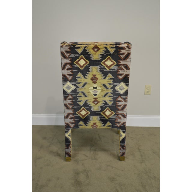 Henredon Vintage Southwood Upholstered Parsons Arm Chair For Sale In Philadelphia - Image 6 of 13